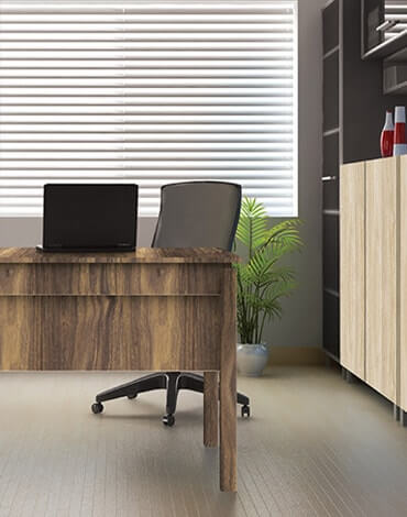 plywood office cabin