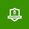 8 years Warranty